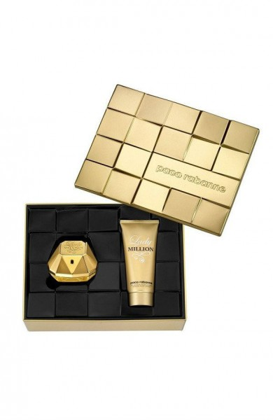 לאשה סט בושם ותחליב גוף Paco Rabanne Lady Million