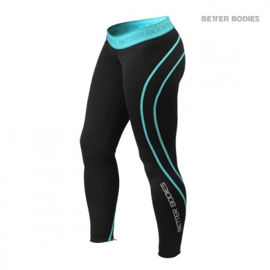 ATHLETE TIGHTS BLACK / AQUA