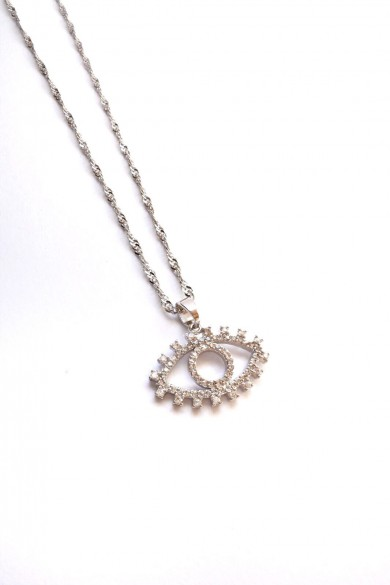 Evil Eye Necklace Clear