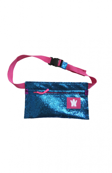 SPARKLY BLUE FANNY PACK