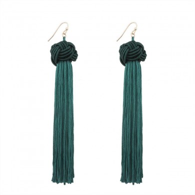 Lily Earrings in Green