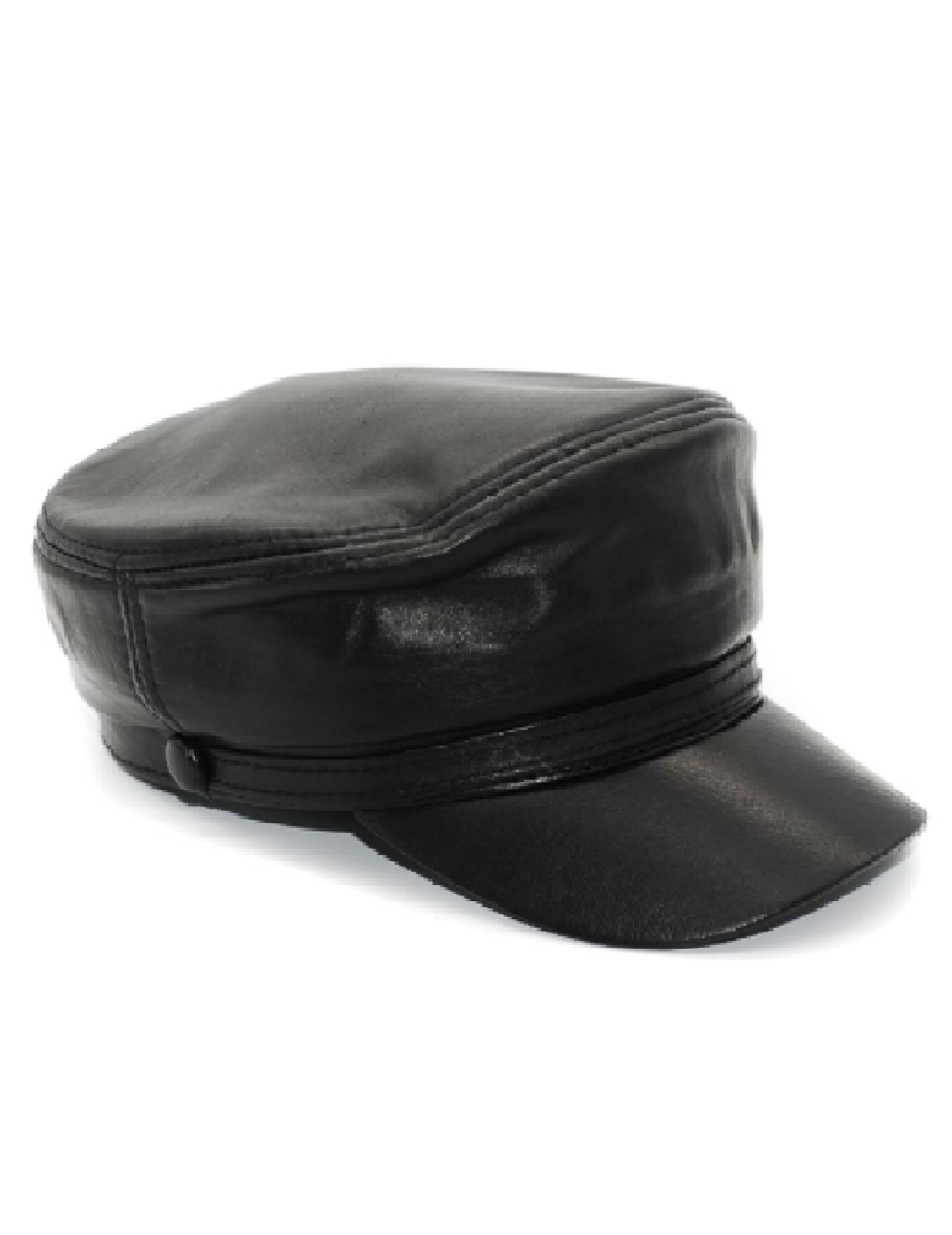 Adriana Leather Hat