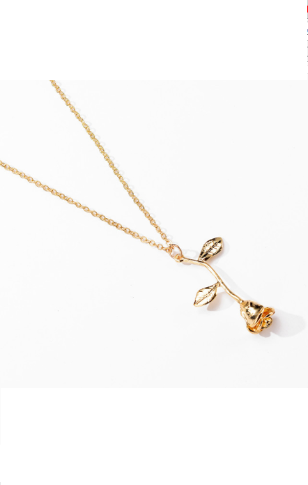 Rosy Necklace in Gold