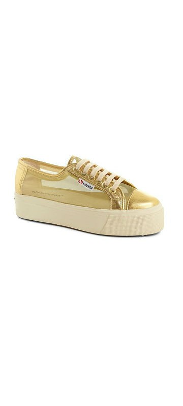 סופרגה פלטפורמה זהב נשים Superga Platform Gold